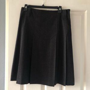 Burberry Gray Wool Pleaded Skirt